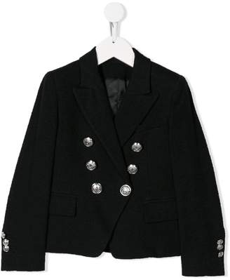 Balmain Kids double breasted jacket