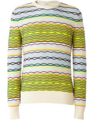 Loewe Wavy Striped Cotton Sweater