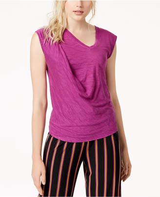 Bar III Twisted Sleeveless T-Shirt