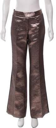 Rachel Zoe Metallic-Accented Mid-Rise Pants