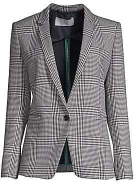BOSS Women's Jemaromina Plaid Stretch Jacket