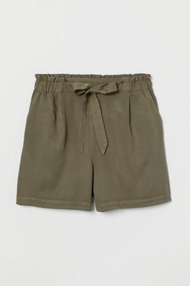 H&M Denim Shorts High Waist - Green