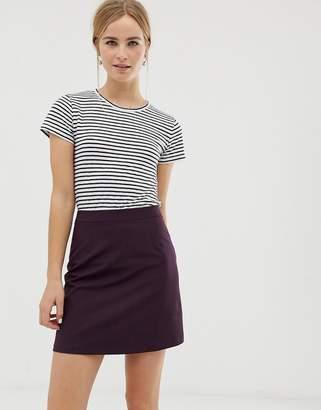 Asos Design DESIGN tailored a-line mini skirt