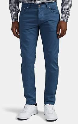Isaia Men's Five-Pocket Slim Jeans - Blue