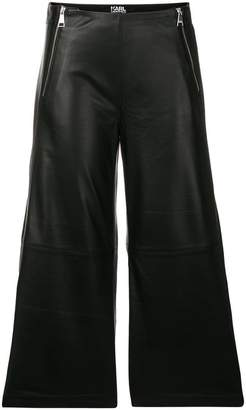 Karl Lagerfeld zipped leather culottes