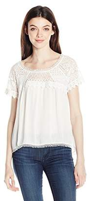My Michelle Junior's Short Sleeve Top with Lace Details