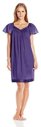 Vanity Fair Women's Coloratura Sleepwear Short Flutter Sleeve Gown 30109 $14.96 thestylecure.com