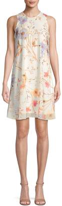Calvin Klein Floral-Print Sleeveless Shift Dress