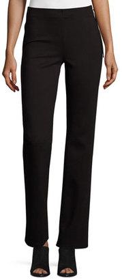 Ella Moss Lovelean Straight-Leg Pants, Black $138 thestylecure.com