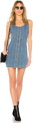 Nicholas Denim Button Front Mini Dress.