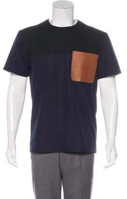 Tim Coppens Colorblock Leather Pocket T-Shirt