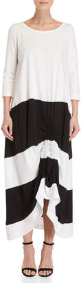 Pierantonio Gaspari Ruched Long Sleeve Maxi Dress