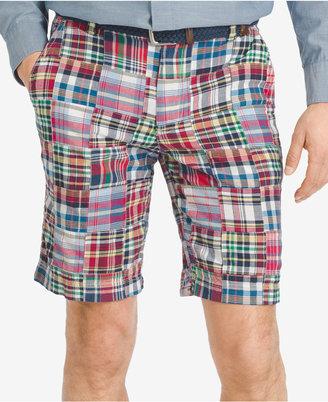 """IZOD Men's Patchwork 9.5"""" Flat-Front Shorts $60 thestylecure.com"""