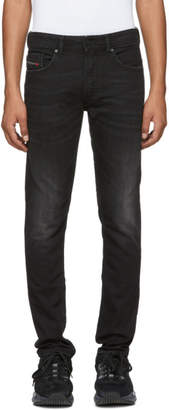 Diesel Black Washed Thommer Jeans