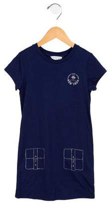 Little Marc Jacobs Girls' Printed Short Sleeves Dress