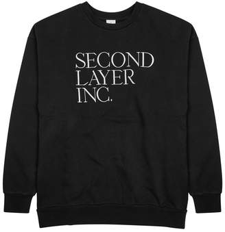 Second/Layer Serif Logo-embroidered Cotton Sweatshirt