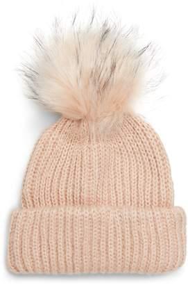 Topshop Faux Fur Pompom Beanie
