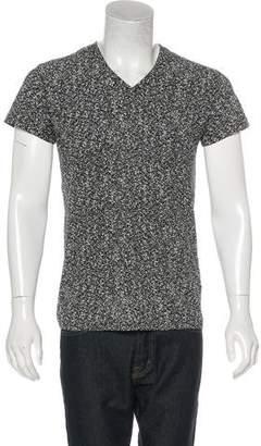 Christian Dior Marbled V-Neck T-Shirt
