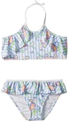Janie and Jack Two-Piece Ruffle Halter Bikini Girl's Swimwear Sets
