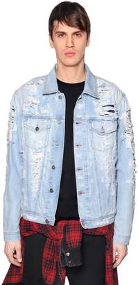 Diesel Layered Destroyed Denim Jacket