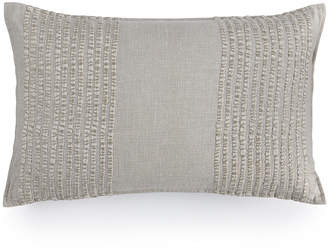 """Hotel Collection Eclipse Embroidered Stripe 12"""" x 22"""" Decorative Pillow, Created for Macy's"""