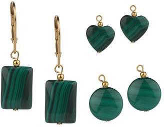 Lee Sands Interchangeable Malachite Earrings