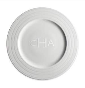 Caskata Personalized Cambridge Stripe Dinner Plate
