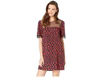 BCBGeneration Day Lace Trim Woven Dress Women's Dress