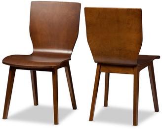 Baxton Studio Elsa Mid-Century Dining Chair 2-piece Set