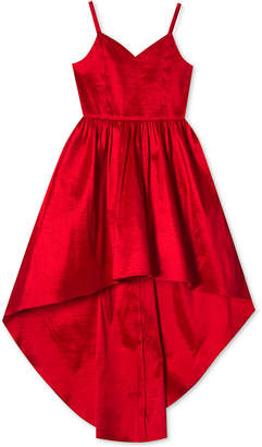 Rare Editions Big Girls Taffeta High-Low Hem Party Dress