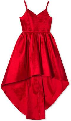 Rare Editions Big Girls Plus Taffeta High-Low Hem Party Dress