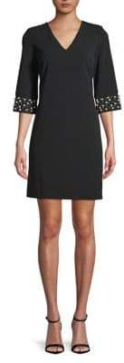 Calvin Klein Beaded-Cuff Sheath Dress