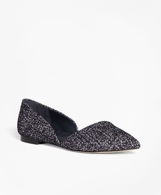 Brooks Brothers Leather Boucle d'Orsay Flats