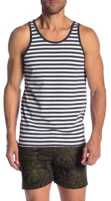 Parke & Ronen Scoop Neck Stripe Tank Top