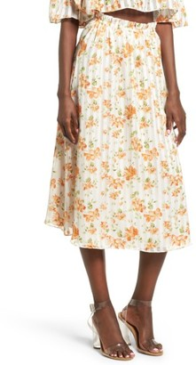 Women's Privacy Please Whitney Floral Midi Skirt $128 thestylecure.com