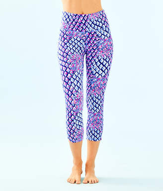 "Lilly Pulitzer Womens UPF 50+ Luxletic 21"" High Rise Weekender Cropped Pant"