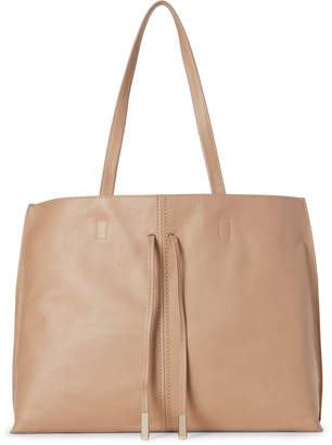 Sondra Roberts Genuine Leather Drawstring Tote
