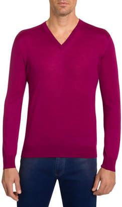 Stefano Ricci Men's V-Neck Cashmere Sweater