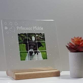 Martasha Personalised Photo Gifts Personalised Mosaic Glass Photograph Display Frame