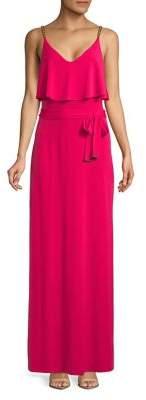 MICHAEL Michael Kors Chain Strap Floor-Length Dress