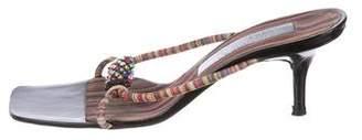 Christian Lacroix Suede Embellished Sandals