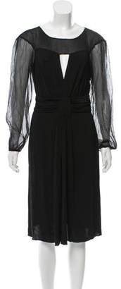 Philosophy di Alberta Ferretti Long Sleeve Woven Dress w/ Tags