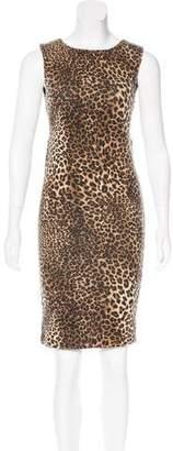 Alice + Olivia Leopard Print Sheath Dress