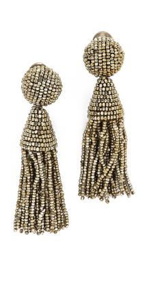 Oscar de la Renta Classic Short Tassel Earrings $345 thestylecure.com