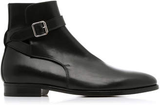 Ralph Lauren Balen Buckled Leather Ankle Boots