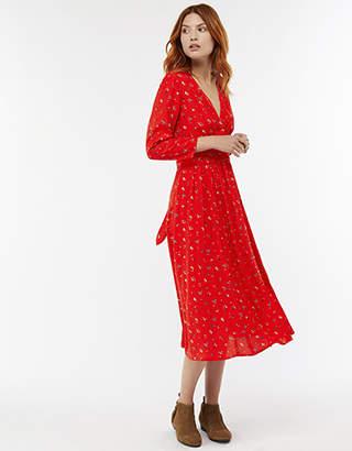 Monsoon Betty Floral Print Midi Dress