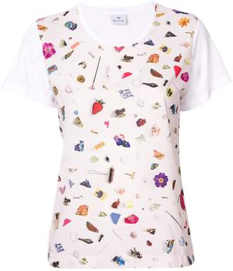 Paul Smith scattered conversational printed T-shirt