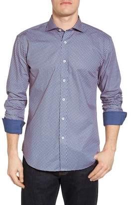 Bugatchi Slim Fit Print Sport Shirt