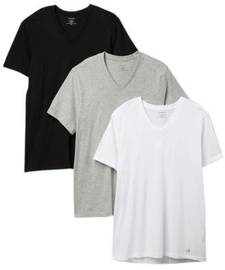 Calvin Klein Cotton V-Neck Tee - Pack of 3