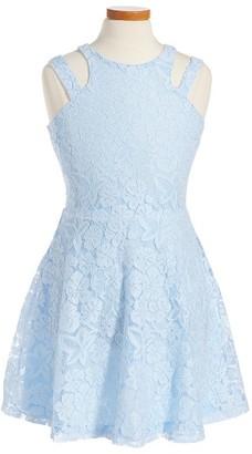 Girl's Penelope Tree Adrianna Cold Shoulder Dress $44 thestylecure.com